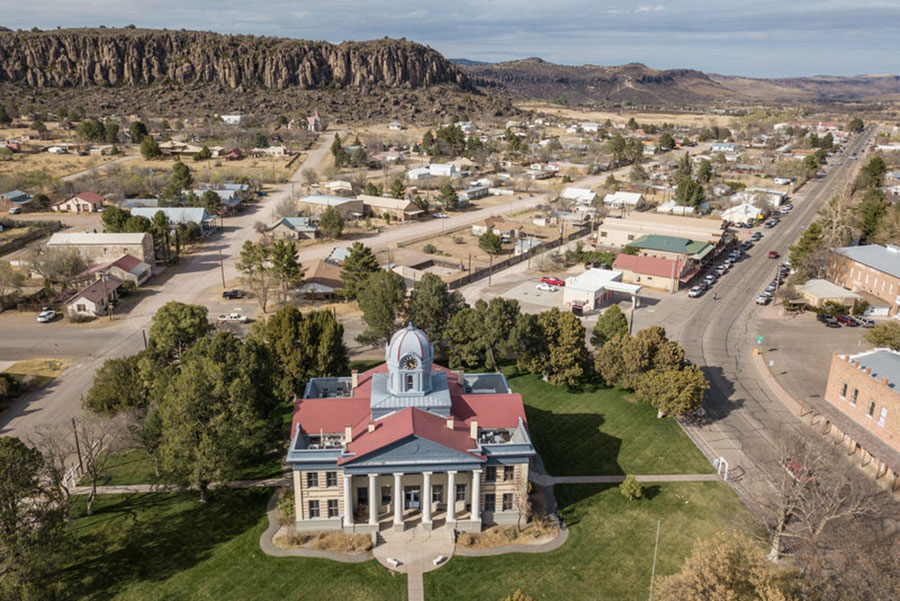 Aerial View of Fort Davis Courthouse