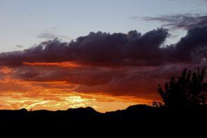 sunset in Marfa, TX